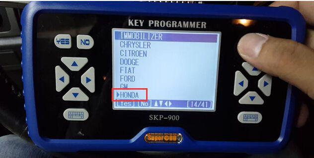 How to Use skp900 to program Honda CRV key when all key lost