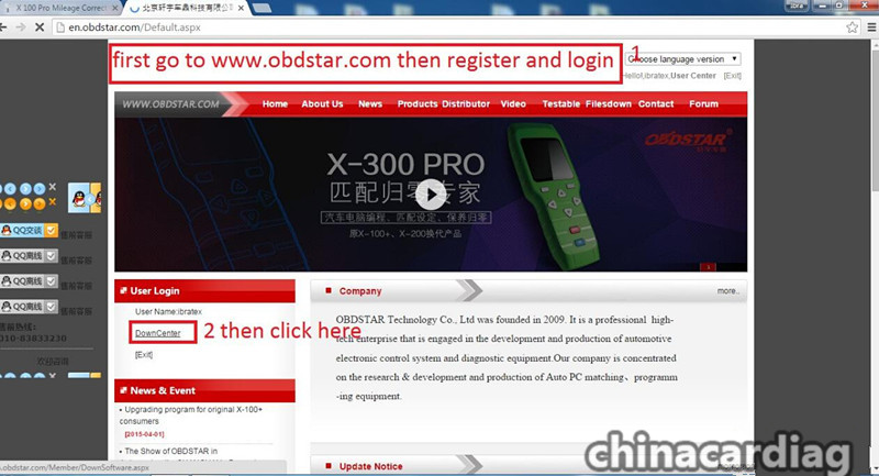 How to update OBDSTAR X300 PRO3 and add F108+ PSA pin code reading function?