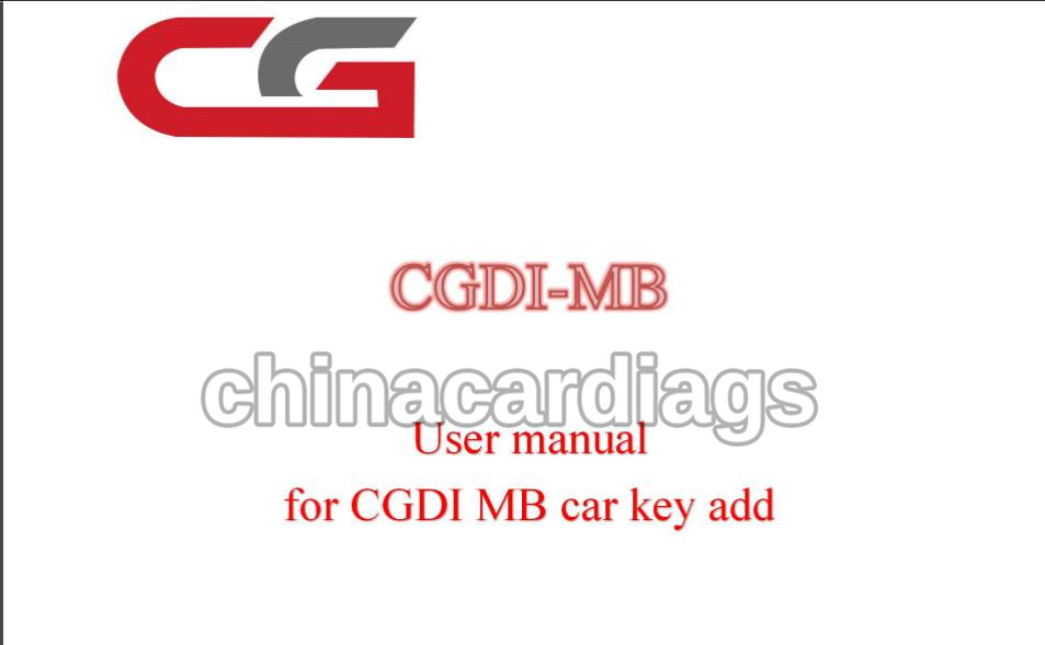 How to Use CGDI Prog MB Mercedes Benz Key Programmer
