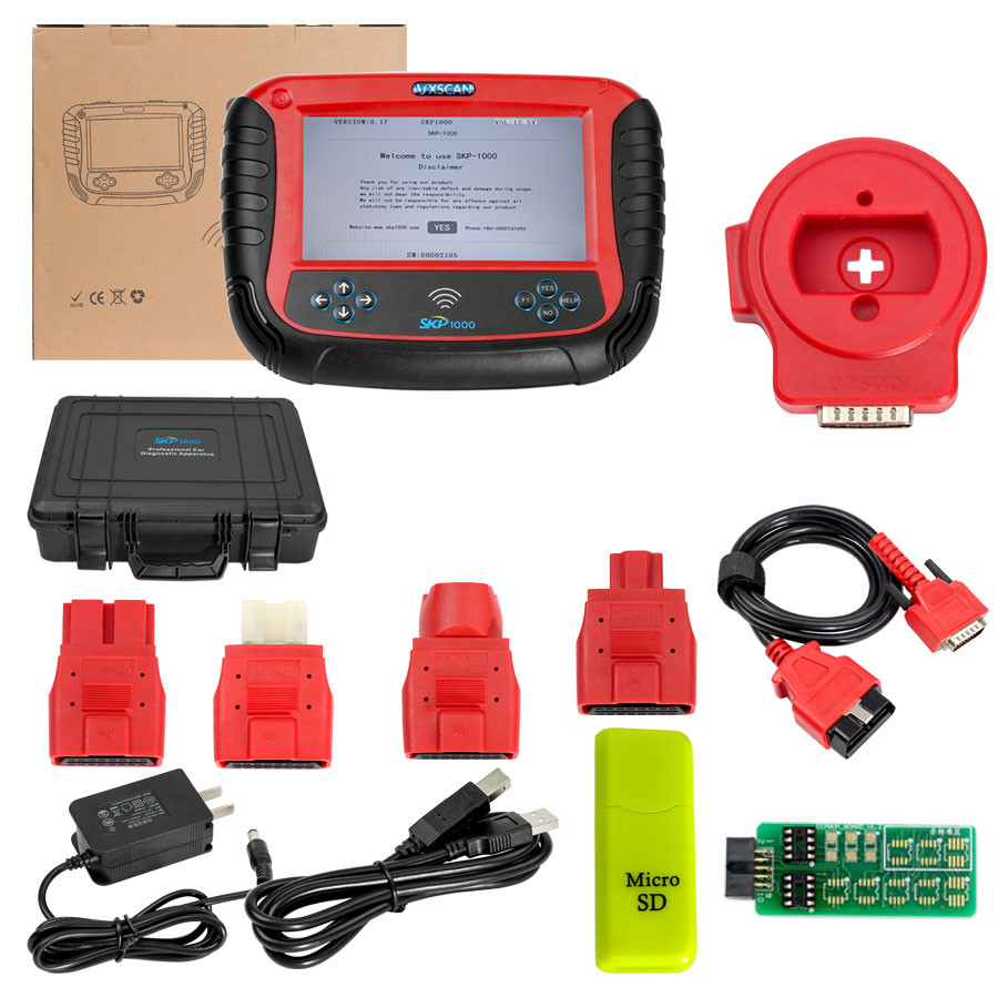 SKP1000 Key Programmer Program Jeep Wrangler 2013 Remote Key by OBD