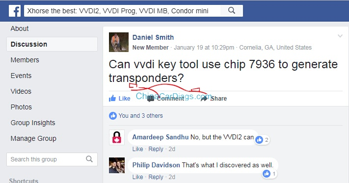 Confirmed! VVDI2 using chip 7936 to generate transponders