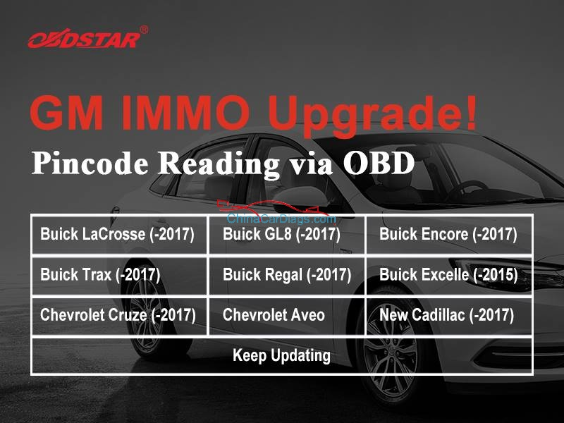 obdstar x3000 dp gm immo upgrade