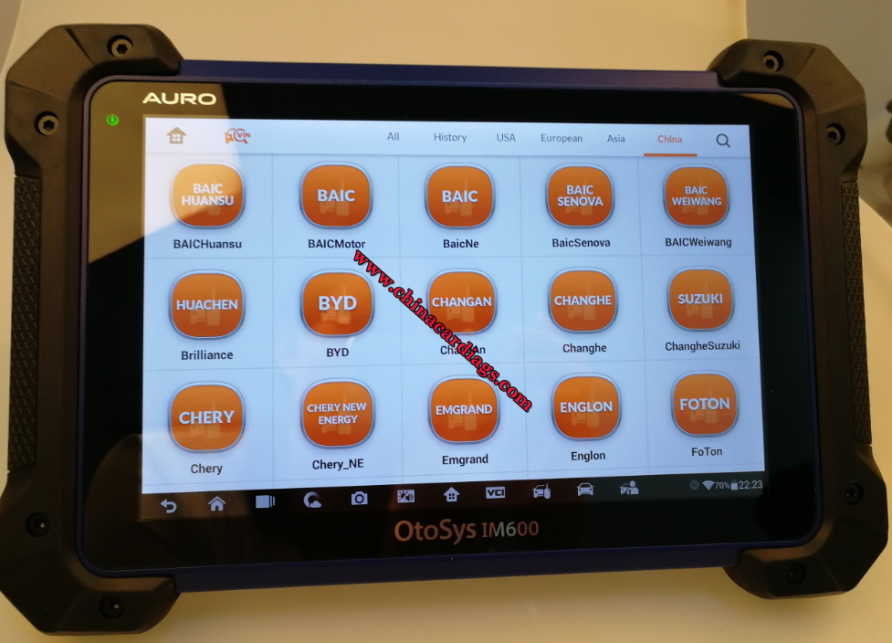 Auro Otosys IM600 functions,car list & support languages