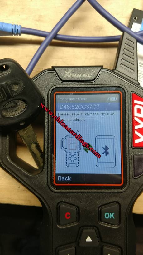 "(Solved) VVDI Key Tool ""Please use APP online 96 bits ID48 option to calculate"""