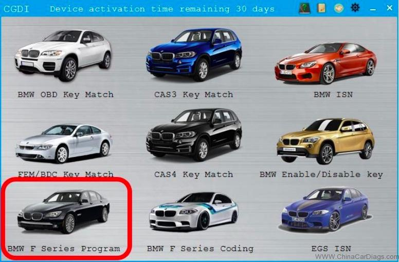 BMW F-series FEM Coding & Programming: CGDI BMW Done!