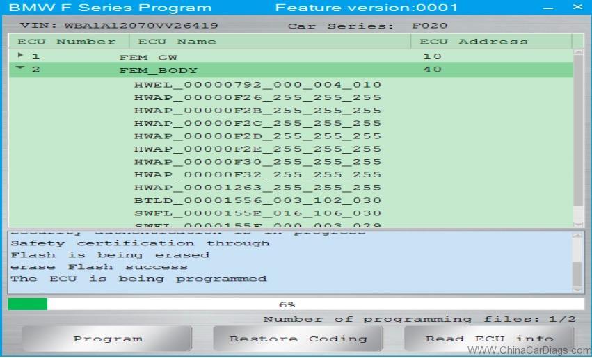 BMW F-series FEM Coding & Programming: CGDI BMW Done! | chinacardiags