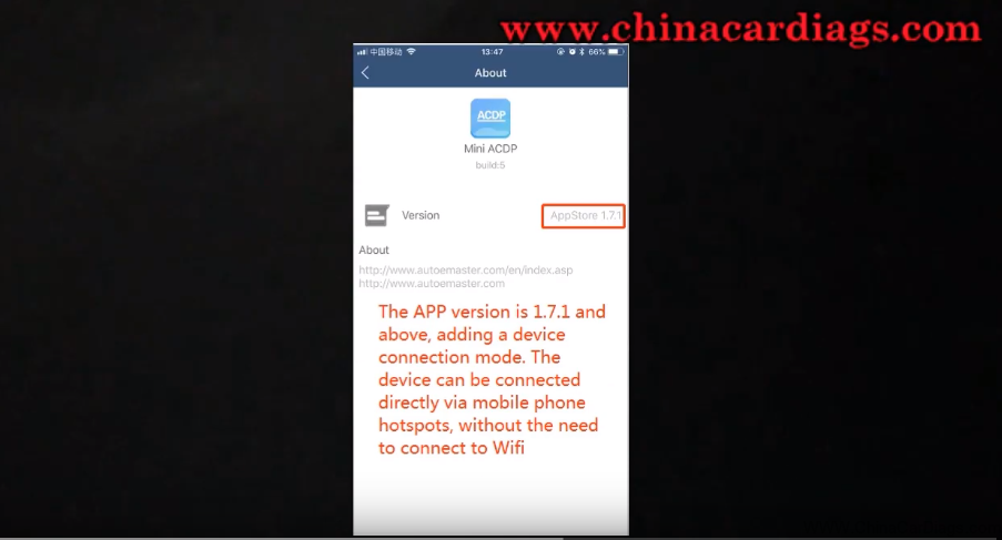 Yanhua Mini ACDP connect to mobile phone hotspot directly No need wifi