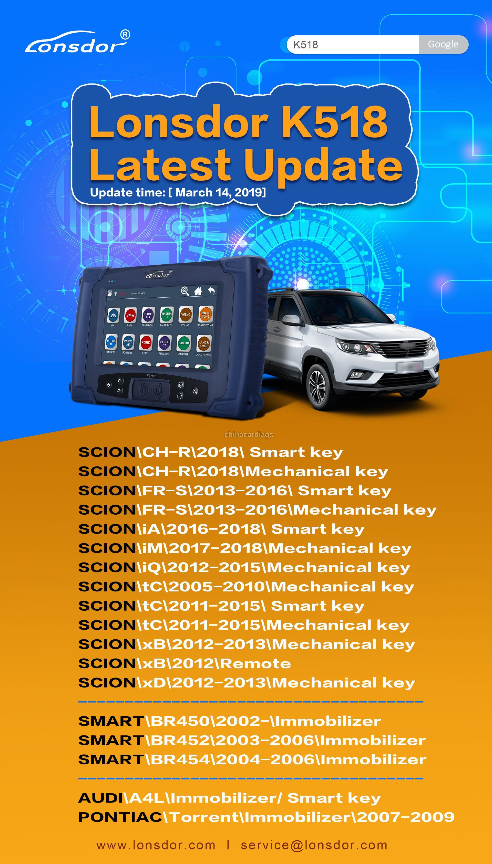 Lonsdor-K518SK518ise-Update-ScionSmartAudiPontiac
