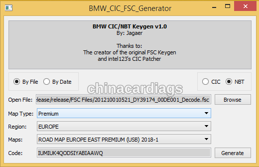 CIC/NBT FSC Generator – Windows/Linux/OSX | chinacardiags