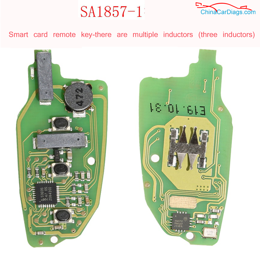 Smart-card-remote-key-there-are-multiple-inductors-three-inductors