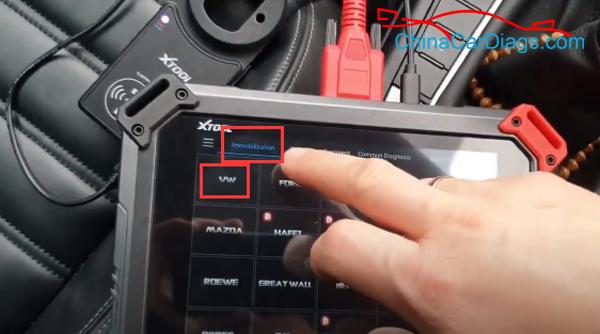 use-xtool-x100-pad2-pro-to-program-vw-cc-key-05