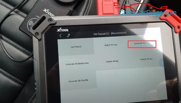use-xtool-x100-pad2-pro-to-program-vw-cc-key-08